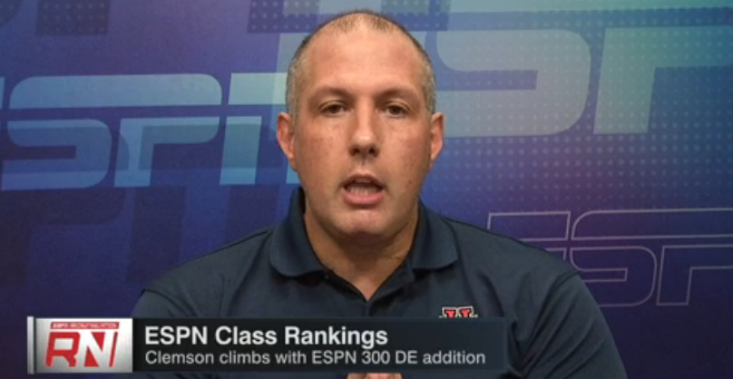 WATCH: Clemson class climbs due to ESPN 300 DE