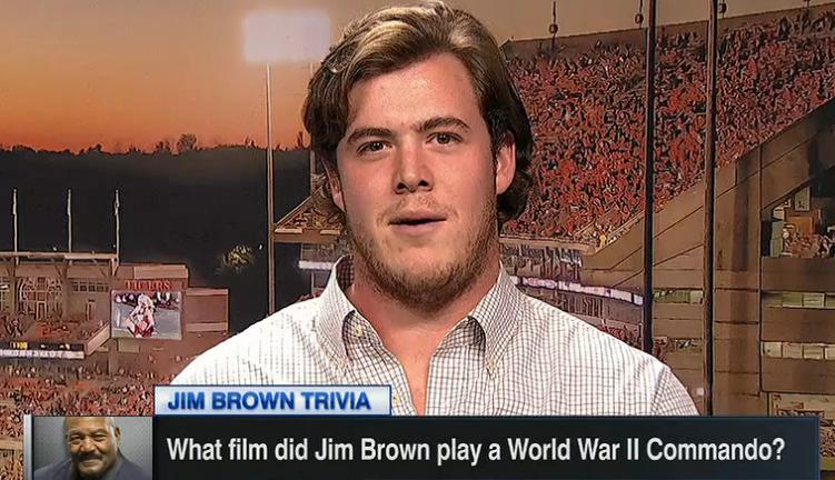 WATCH: ESPN trivia with Clemson's Jim Brown