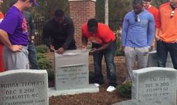 WATCH: Unveiling of new tombstone, message from former players to current team