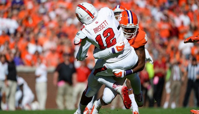 NC State quarterback Jacoby Brissett was just 4-18 for 35 yards last season