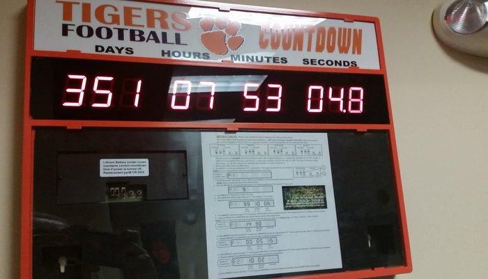 Clemson's countdown clock has already reset