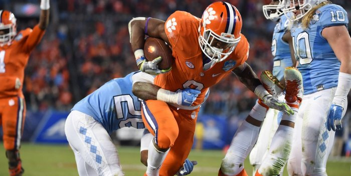 Wayne Gallman was a big part of Clemson's offense in the win over UNC
