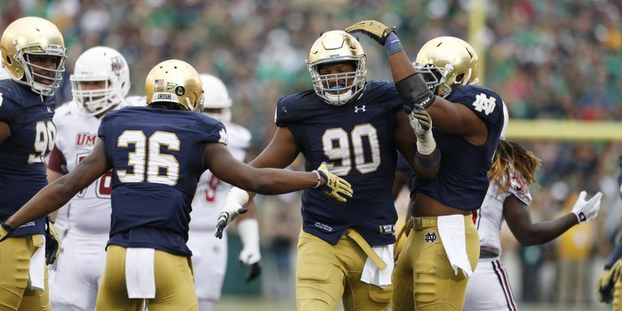 Swinney likes what he sees out of Notre Dame's defense (Photo by Brian Spurlock)