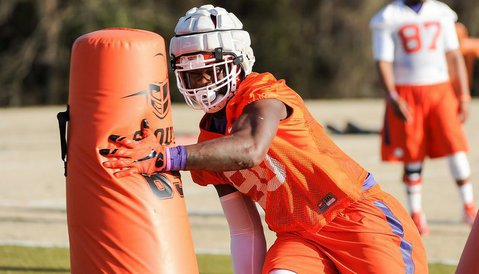 Defensive ends coach Marion Hobby will have to rely even more on Shaq Lawson this season