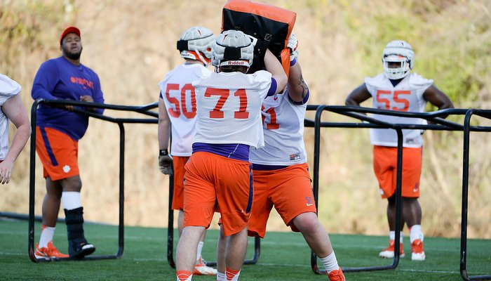 Mac Lain says Clemson's offensive line has a special bond