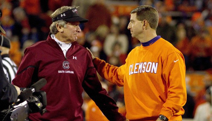 Swinney says he has competed against Spurrier since 1989 (Photo by Josh Kelly)
