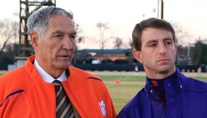 Swinney and Stallings together shortly after Swinney took over (Photo courtesy of CUAD)