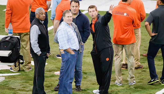 Bill Belichick was on hand to check out Clemson's talent Thursday