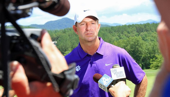 Swinney says coaching and playing at Clemson is a privilege