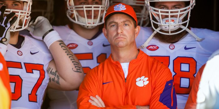 Swinney has won five national coach of the year awards (Photo by Jeff Blake, USAT)