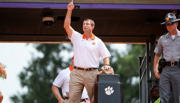 Things are pointing up for Swinney and the Tigers