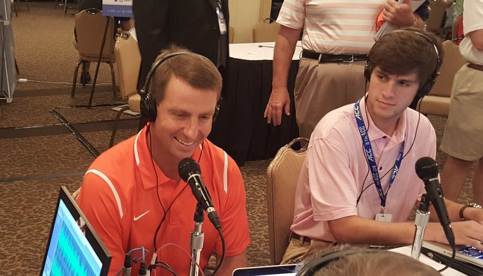 Swinney meets with the media Tuesday at Pinehurst