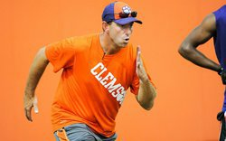 Clemson football gets off to a running start this week with interviews and golf
