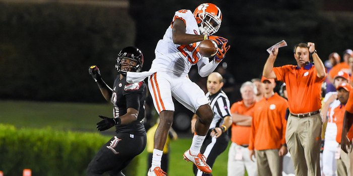 Mike Reed's development of Cordrea Tankersley and the secondary is a big part of Clemson's success on defense.