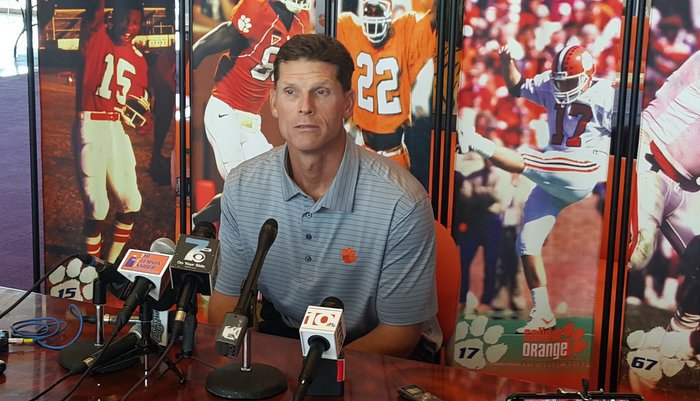 Venables talks to the media Tuesday in the WestZone