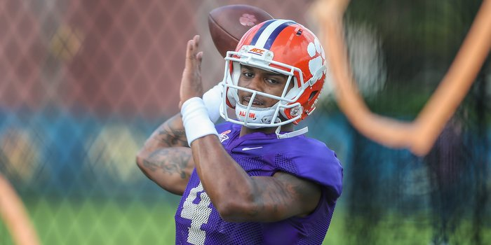 Watson works out at Sunday's Orange Bowl practice
