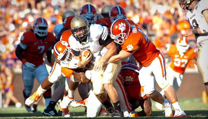 The Tigers eventually found an answer for Wofford's ground attack