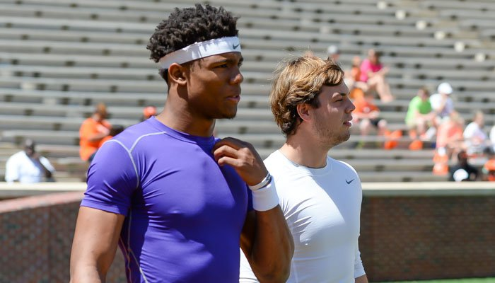 The decision on whether one of the two freshmen QB will redshirt will have to wait till fall camp.