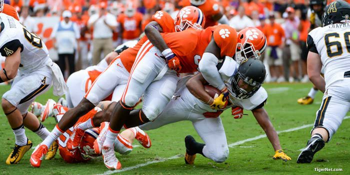 Shaq Lawson had 1 sack and 3 tackles for loss against App State.