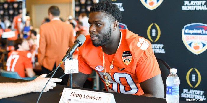 Clemson DE Shaq Lawson said he likes all the talking this week.