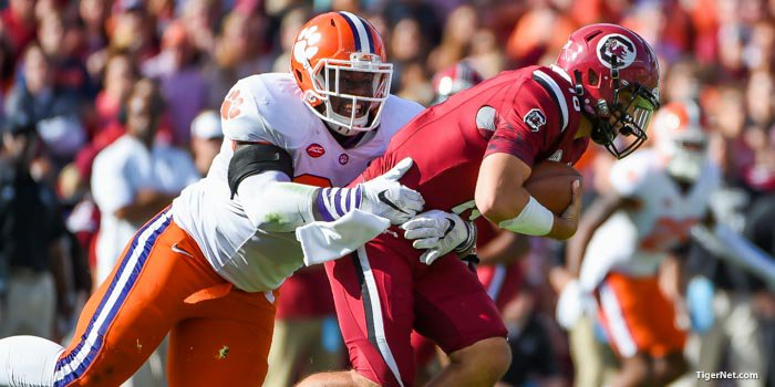 Clemson's defense stood tall at times