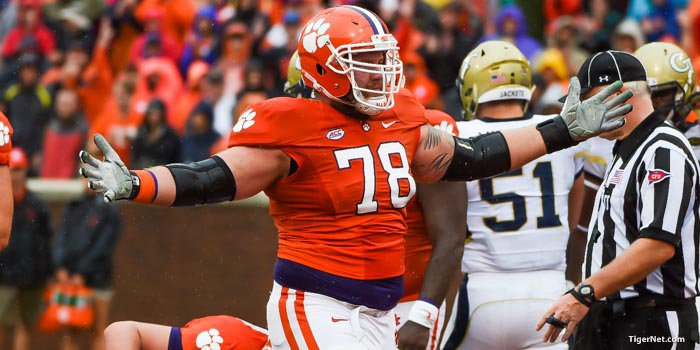 Mac Lain is the leader on Clemson's offensive line.