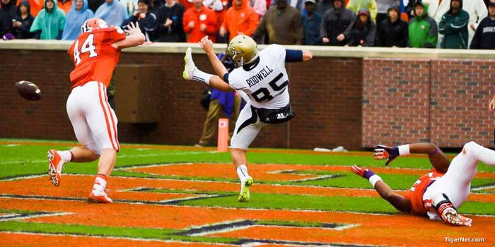 This blocked punt led to a Clemson safety
