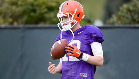 Nick Schuessler will play for both teams in Saturday's spring game.