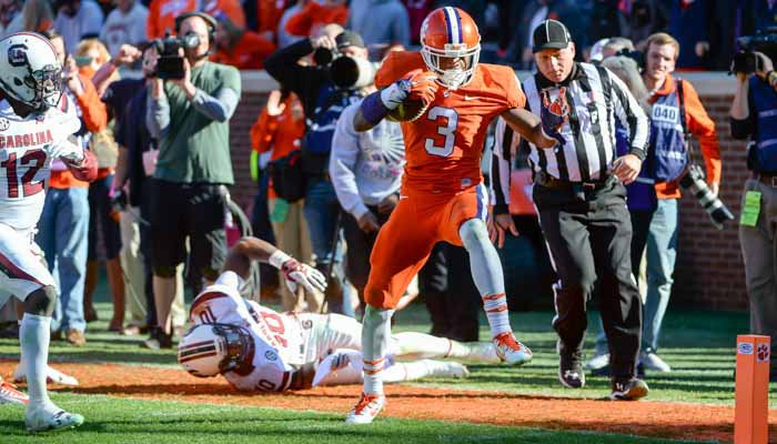 Scott was named as a First-Team All-American by USA Today after leading Clemson in receptions.