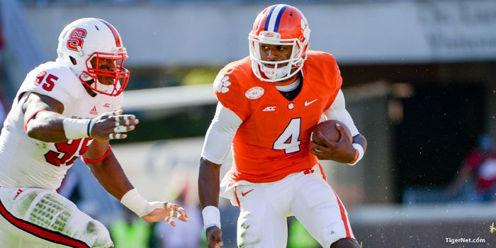 Deshaun Watson led the Tigers to a 41-0 rout over the Wolfpack last season.