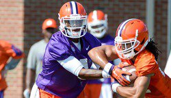 Tigers hold Fire Drill Paced Practice