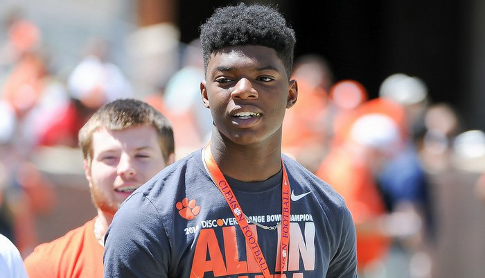 Cooper was a visitor for Clemson's spring game earlier this month