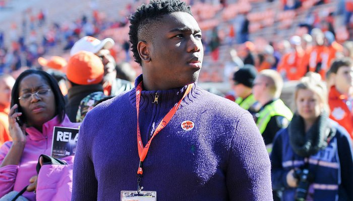 Pinckney was in Clemson for the Tigers' win over South Carolina