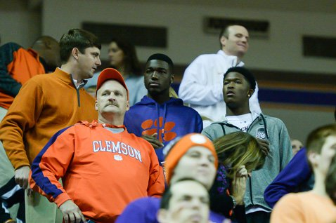 Deon Cain (middle) and Ray-Ray McCloud on Clemson's campus in January