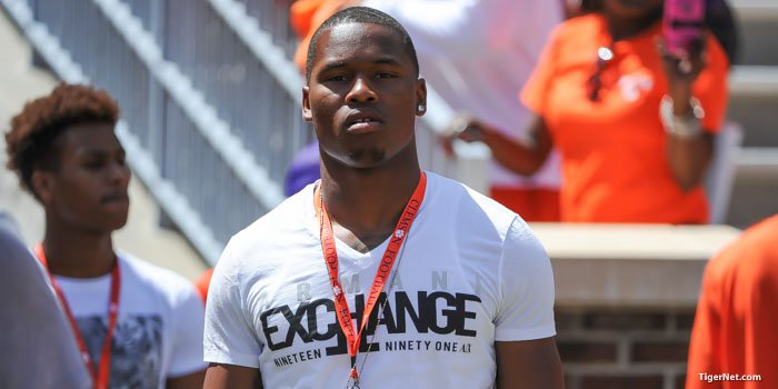 5-star Bradenton (FL) IMG linebacker Rahshaun Smith will be at Clemson on Saturday.