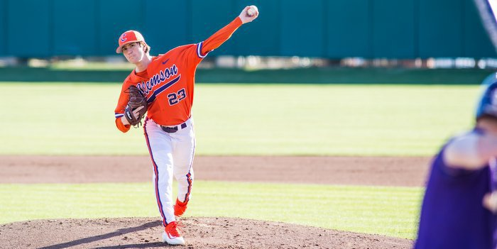 Barnes pitched six solid innings to pick up the win (Photo by David Grooms)