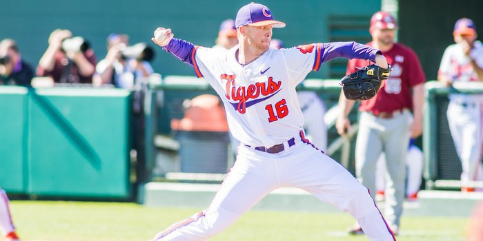 Eubanks earned the win in his first collegiate start (Photo by David Grooms)