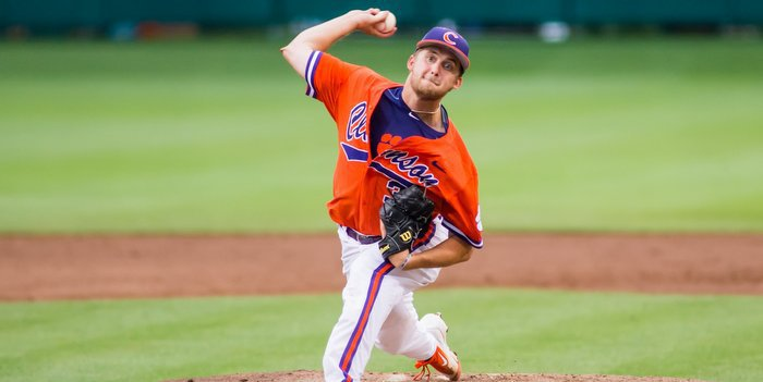 Schmidt allowed eight runs in a little over two innings of work (Photo by David Grooms)