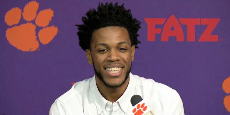 Blossomgame smiles during his press conference Wednesday