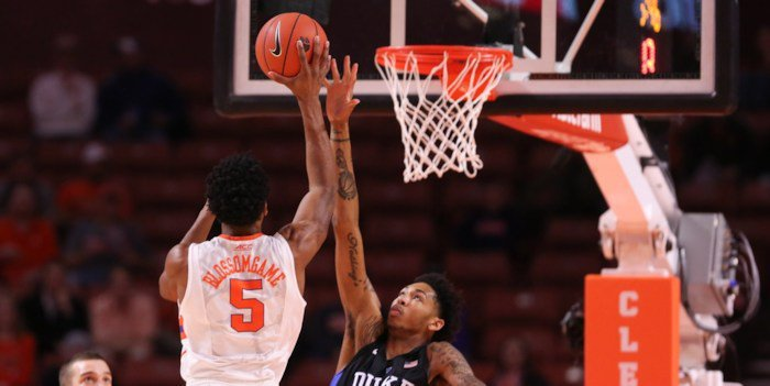 Blossomgame led Clemson with 17 points (Photo by Dawson Powers, USAT)