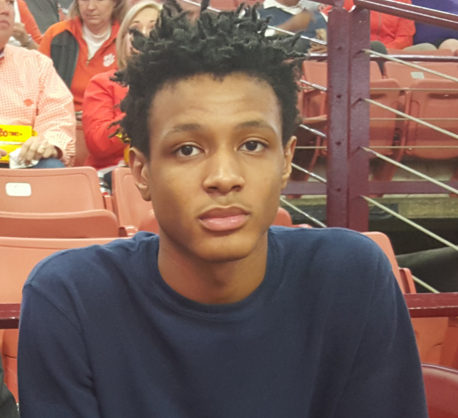 Wright Jr. at the Clemson-Virginia game