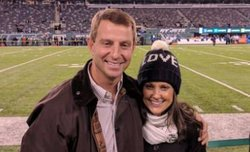 Dabo and Kathleen Swinney attend Colts-Jets game
