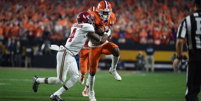 Wayne Gallman and the Tigers will have their hands full with Bama's defense