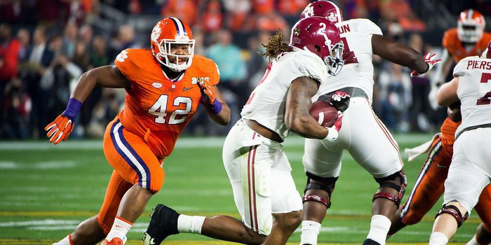 Christian Wilkins and Clemson take on Alabama in the title game next Monday