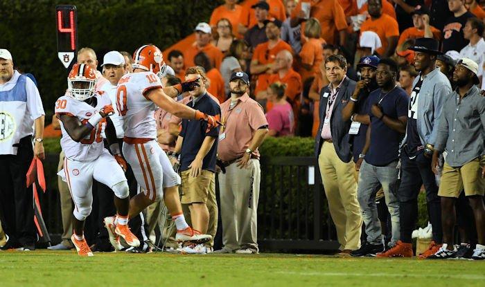 Boulware stares down Cam Newton last year at Auburn