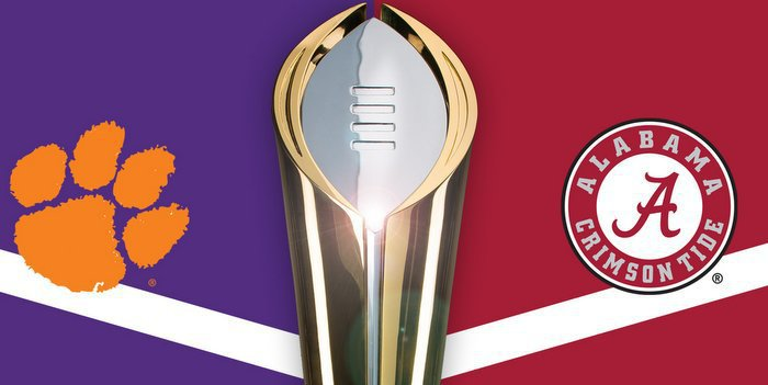 Clemson plays Alabama for the National Championship next Monday night