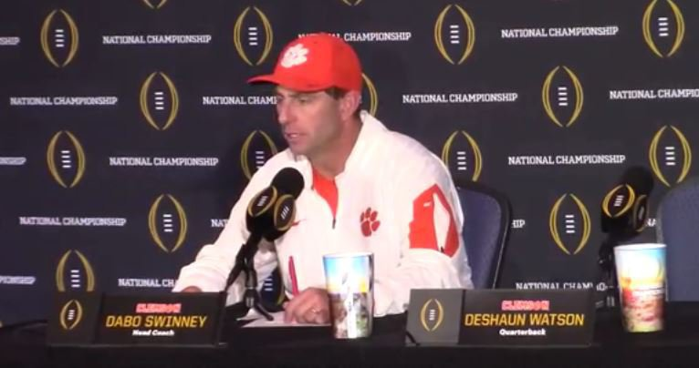 Swinney thinks the Tigers can make another title run