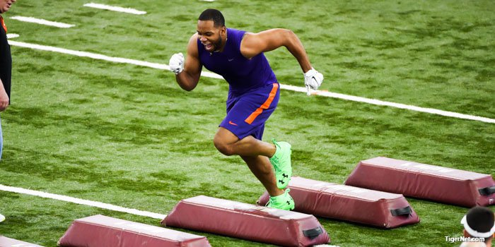 Dodd had a great session in front of NFL scouts Thursday