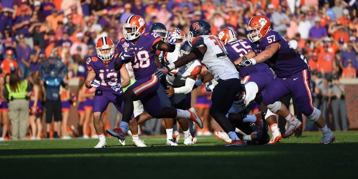 Tavien Feaster and the running backs may start seeing more running room