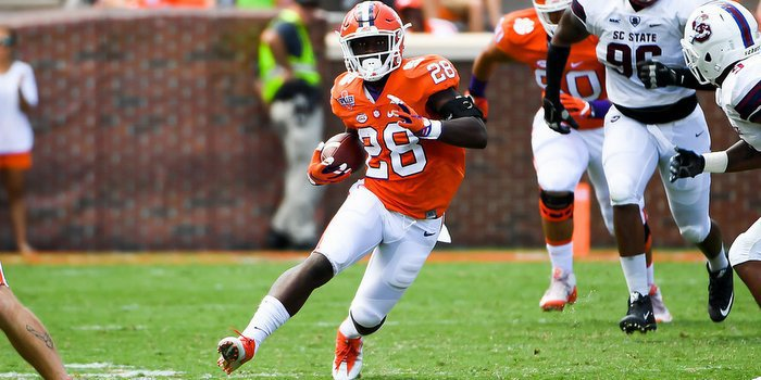 Feaster looks for running room against SC State